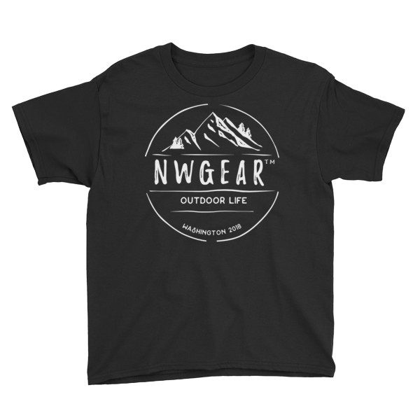 Black Outdoor Life Youth's T-Shirt by NWGear