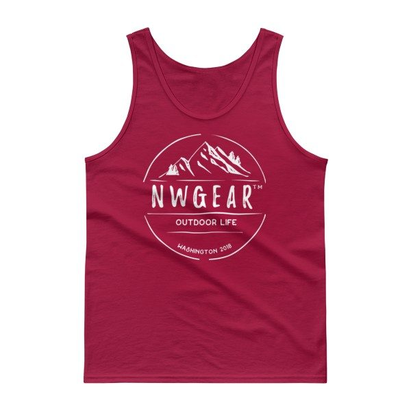 Cardinal Red Outdoor Life Tank Top by NWGear