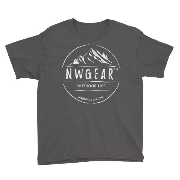 Charcoal Outdoor Life Youth's T-Shirt by NWGear