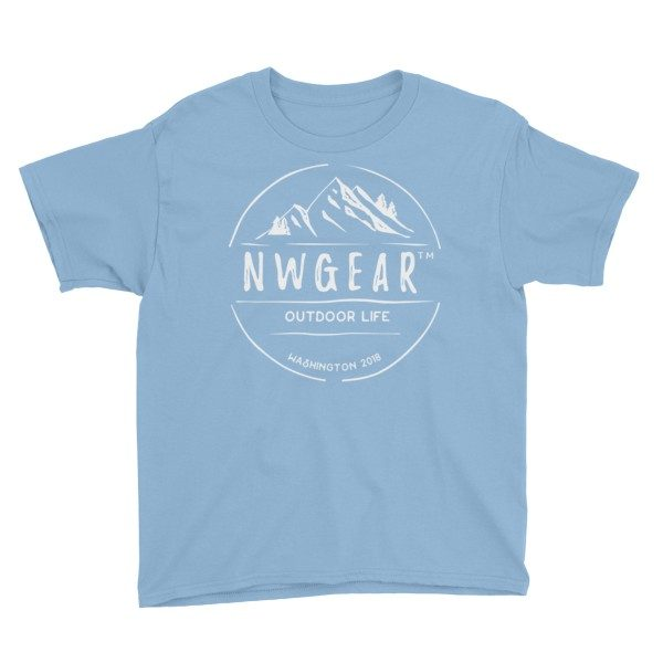 Light Blue Outdoor Life Youth's T-Shirt by NWGear