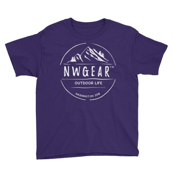 Purple Outdoor Life Youth's T-Shirt by NWGear