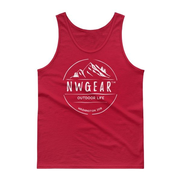 Red Outdoor Life Tank Top by NWGear