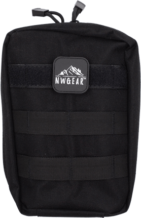 NWGear compact, water resistant, ultra-durable 600D nylon bag with thick webbing that can be attached to any MOLLE compatible backpack